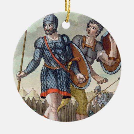 Legionaries, from 'L'Antica Roma', 1825 (colour li Ceramic Ornament