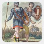 Legionaries, from 'L'Antica Roma', 1825 (colour li Square Sticker