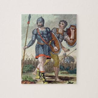 "Legionarios, de ""L'Antica Roma"", 1825 (li del colo Rompecabeza"