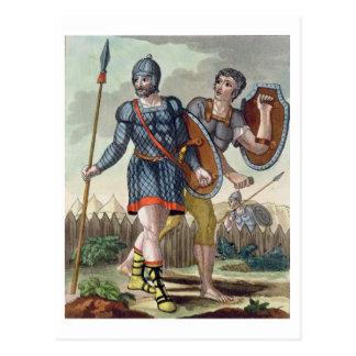 """Legionarios, de """"L'Antica Roma"""", 1825 (li del Tarjeta Postal"""