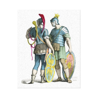 Legionarios romanos antiguos impresión en lienzo estirada