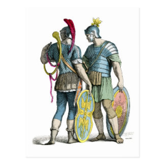 Legionarios romanos antiguos postal