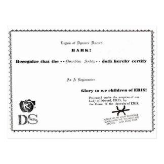 legionnaire certificate postcards