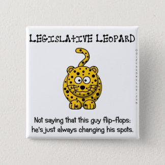 Legislative flip flops pinback button