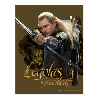 Legolas Drawing Bow Graphic Post Cards