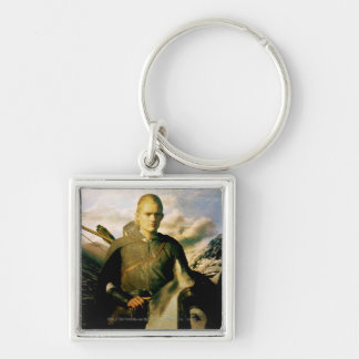 LEGOLAS GREENLEAF™ Close Up on Horse Silver-Colored Square Keychain