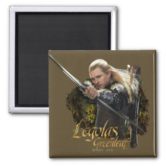 LEGOLAS GREENLEAF™ Drawing Bow Graphic 2 Inch Square Magnet