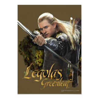 LEGOLAS GREENLEAF™ Drawing Bow Graphic 5x7 Paper Invitation Card