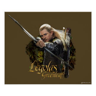 LEGOLAS GREENLEAF™ Drawing Bow Graphic Poster