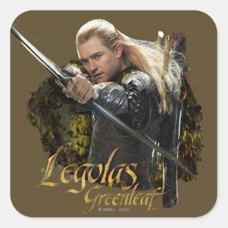 LEGOLAS GREENLEAF™ Drawing Bow Graphic Square Sticker