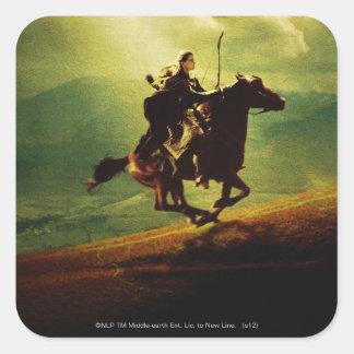 LEGOLAS GREENLEAF™ en caballo Colcomanias Cuadradas