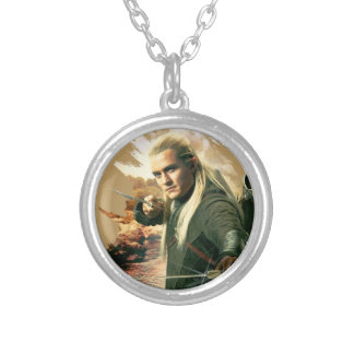 LEGOLAS GREENLEAF™ Graphic 2 Silver Plated Necklace