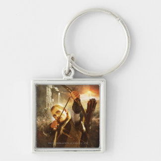 LEGOLAS GREENLEAF™ in Action Silver-Colored Square Keychain