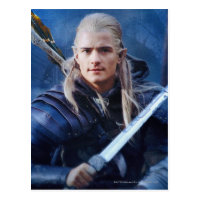 LEGOLAS GREENLEAF™ in Blue Postcard