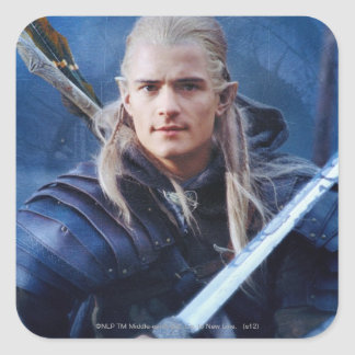 LEGOLAS GREENLEAF™ in Blue Square Sticker