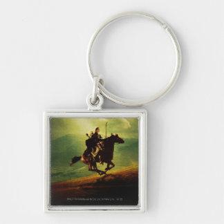 LEGOLAS GREENLEAF™ on Horse Silver-Colored Square Keychain