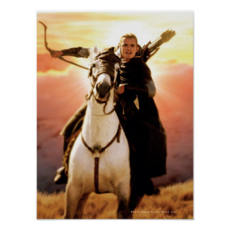 LEGOLAS GREENLEAF™  on Horseback Poster