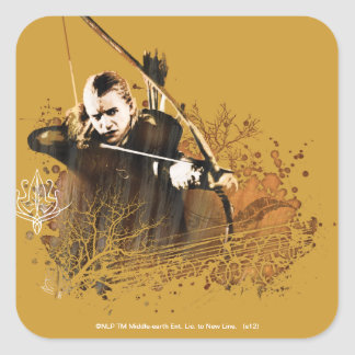 LEGOLAS GREENLEAF™ Shooting Arrow Square Sticker