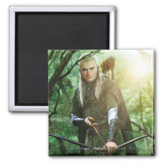 LEGOLAS GREENLEAF™ with bow 2 Inch Square Magnet