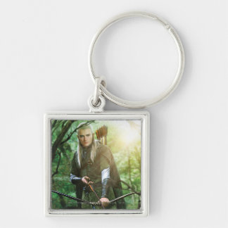 LEGOLAS GREENLEAF™ with bow Silver-Colored Square Keychain