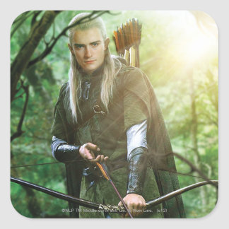 LEGOLAS GREENLEAF™ with bow Square Stickers
