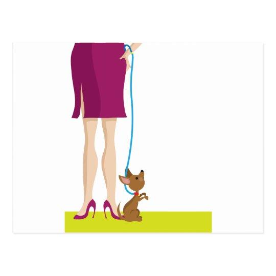 Legs and Dog Postcard