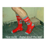 Legs and Socks Humour Postcards