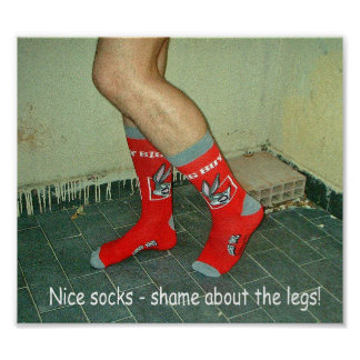 Legs and Socks Humour Poster