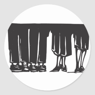 Legs at a Party Classic Round Sticker