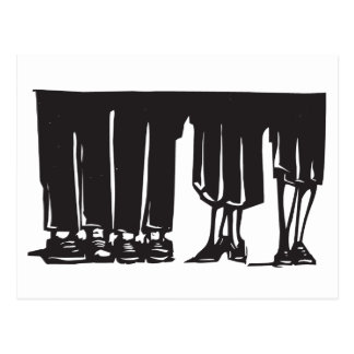 Legs at a Party Postcard
