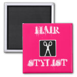 legs, HAIR, STYLIST 2 Inch Square Magnet