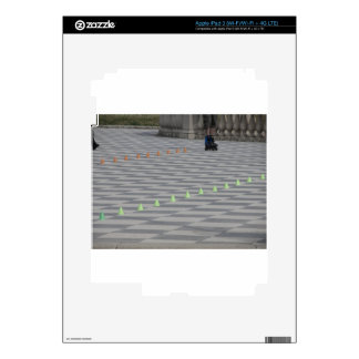 Legs of guy on inline skates . Inline skaters Decal For iPad 3