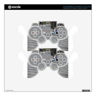 Legs of guy on inline skates . Inline skaters PS3 Controller Skin