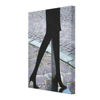 Legs Silhouette at the Corner Canvas