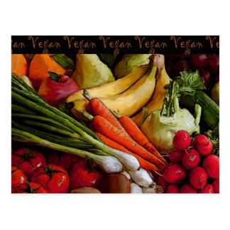 Legumbres de frutas vegetarianas del vegano tarjetas postales