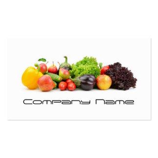 Legumbres de frutas/vida sana/tarjeta vegetariana tarjetas de visita