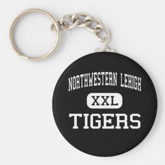 Lehigh del noroeste - tigres - alto - nueva Trípol Llavero Redondo Tipo Pin