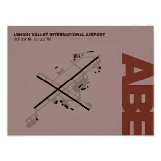 Lehigh Valley Airport (ABE) Diagram Poster