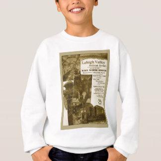 Lehigh Valley Railroad 1897 Vintage Train Poster Sweatshirt