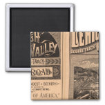 Lehigh Valley Railroad 2 Inch Square Magnet