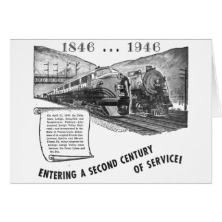 Lehigh Valley Railroad-A Second Century of Service Card