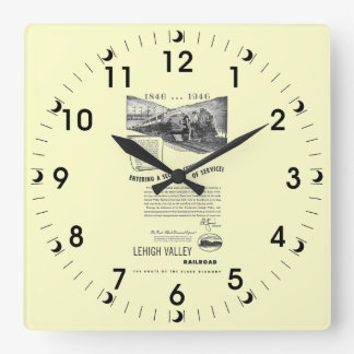 Lehigh Valley Railroad-A Second Century of Service Clock