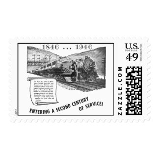 Lehigh Valley Railroad-A Second Century of Service Stamp