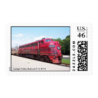 Lehigh Valley Railroad F-7A 578 at Cape May N J Stamps