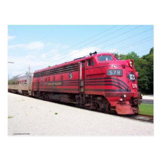 Lehigh Valley Railroad F-7A #578 at Cape May N. J. Postcard