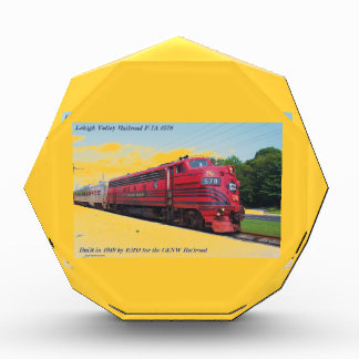Lehigh Valley Railroad F-7A #578 @ Cape May N.J. Acrylic Award