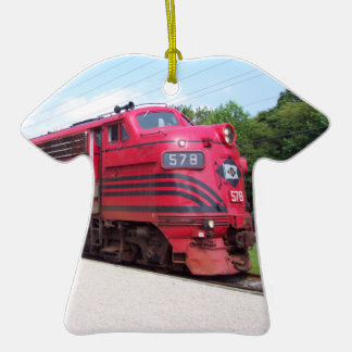 Lehigh Valley Railroad F-7A #578 @ Cape May N.J. Double-Sided T-Shirt Ceramic Christmas Ornament