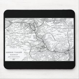 Lehigh Valley Railroad Map 1903 Mousepads
