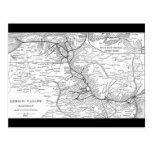 Lehigh Valley Railroad Map 1903 Postcard