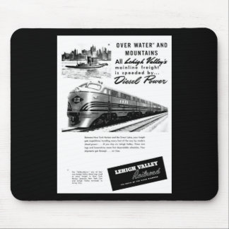 Lehigh Valley Railroad - New Diesel Power 1950 Mouse Pad